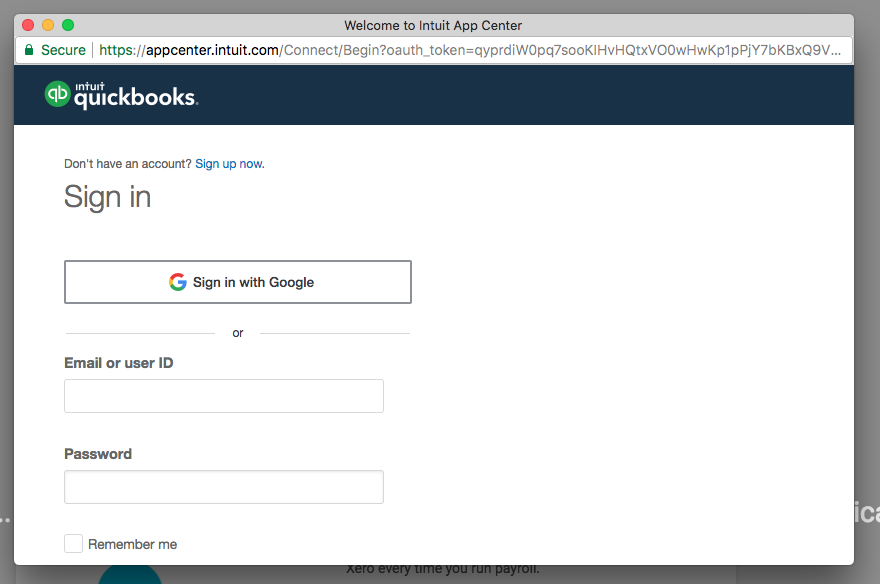QuickBooks Online Integration – Knowledge Center