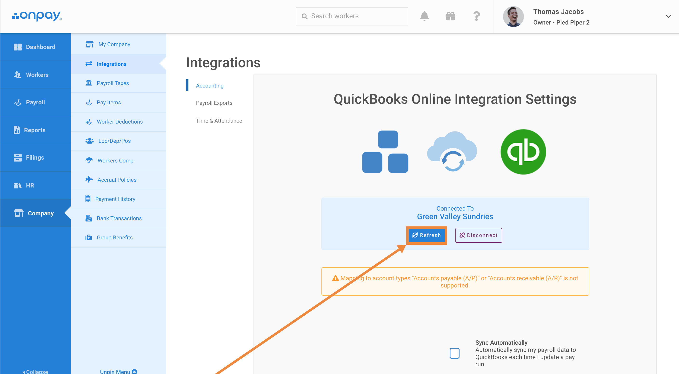 How to set up your QuickBooks Online integration - Help Center